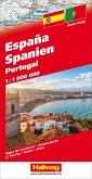 Hallwag Straßenkarte Spanien / Portugal 1:1 Mio.