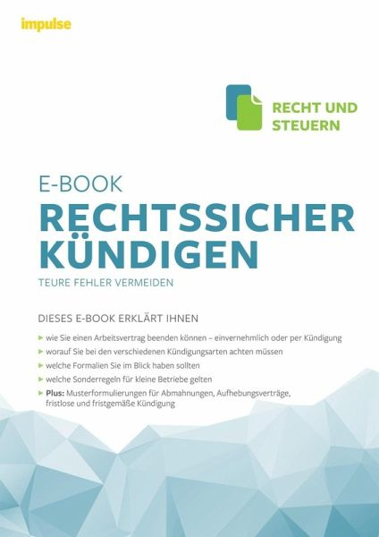 Rechtssicher Kündigen Ebook Epub Von Andreas Kurz Peter Neitzsch