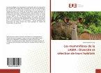 Les mammifères de la LAMA : Diversité et sélection de leurs habitats