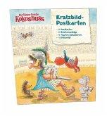 Der kleine Drache Kokosnuss - Kratzbild-Postkarten Set