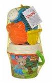 Simba 107114410 - Maxi. Family Baby-Eimergarnitur, Mehrfarbig, Sandspielzeug