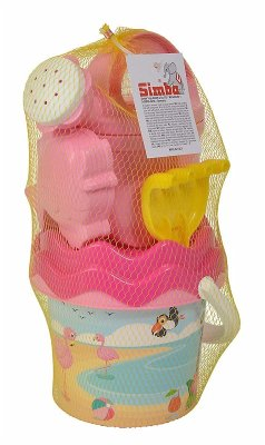 Simba 107114405 - Flamingo, Baby Eimergarnitur, Sandspielzeug