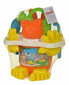 Simba 107114412 - Maxi Family Eimergarnitur mit Füßen, Mehrfarbig, Sandspielzeug