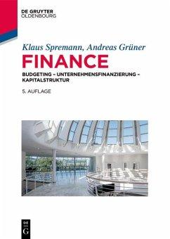 Finance (eBook, ePUB) - Grüner, Andreas; Spremann, Klaus