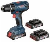 Bosch GSR 18V-21 Professional + 3x Akku + L-Boxx