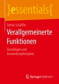 Verallgemeinerte Funktionen (eBook, PDF)