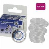 Münzkapseln Durchmesser 27,5 mm, für Format 5-Euro-Münzen, 10 Stück