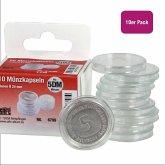 Münzkapseln Durchmesser 29 mm, für Format 5-DM-Münzen, 10 Stück