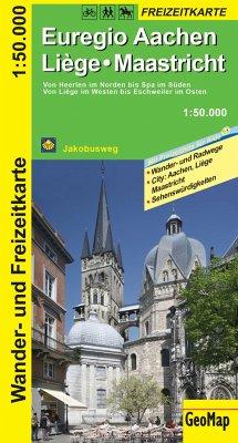 GeoMap Karte Euregio Aachen, Liege, Maastricht Wander- und Freizeitkarte