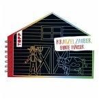 Kratzelzauber Bunte Häuser (Kratzelbuch in Hausform)