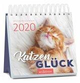 Miniwochenkalender Katzenglück 2020 - kleiner Aufstellkalender mit Wochenkalendarium