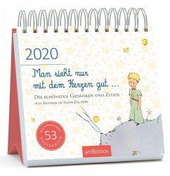 Postkartenkalender Man sieht nur mit dem Herzen gut ... 2020 - Saint-Exupéry, Antoine de