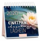 Miniwochenkalender Einatmen. Ausatmen. Lächeln. 2020 - kleiner Aufstellkalender mit Wochenkalendarium