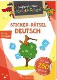 Superstarke Schulhelden - Sticker-Rätsel Deutsch