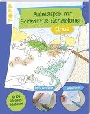 Ausmalspaß mit Schraffur-Schablonen Dinos (Mängelexemplar)
