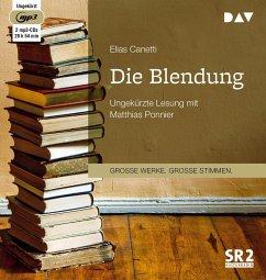 Die Blendung, 2 MP3-CD - Canetti, Elias