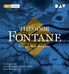 Die großen Romane, 14 MP3-CD - Fontane, Theodor