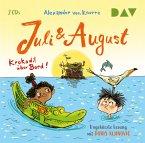Juli und August - Krokodil über Bord!, 2 Audio-CDs