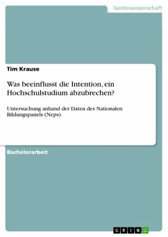 Was beeinflusst die Intention, ein Hochschulstudium abzubrechen? (eBook, PDF)