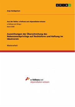 Auswirkungen der Überschreitung des Nebenzweckprivilegs auf Rechtsform und Haftung im Idealverein (eBook, PDF)
