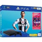 Sony Playstation 4 Slim Konsole PS4 Slim 500GB + Fifa 19 + 14 Tage PS Plus
