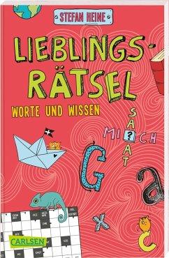Lieblingsrätsel - Worte und Wissen, ab 8 Jahren (Kreuzworträtsel, Buchstabensalat, Geheimcodes und vieles mehr) - Heine, Stefan