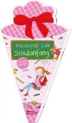 Rätselspaß zum Schulanfang mit Stickern (Schultüte für Mädchen) - Fuchs, Caroline