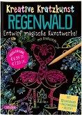 Regenwald: Set mit 10 Kratzbildern, Anleitungsbuch und Holzstift / Kreative Kratzkunst Bd.11