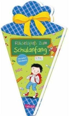 Schlau für die Schule: Rätselspaß zum Schulanfang mit Stickern (Schultüte für Jungen) - Fuchs, Caroline