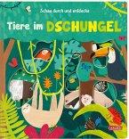 Schau durch und entdecke: Tiere im Dschungel