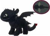 Dragons Plüsch-Ohnezahn mit Glow in The Dark Effekt, ca. 32cm
