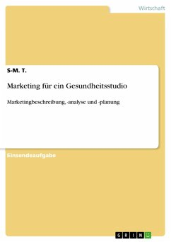 Marketing für ein Gesundheitsstudio (eBook, PDF)
