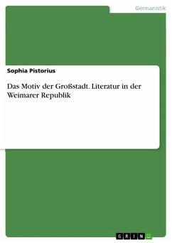 Das Motiv der Großstadt. Literatur in der Weimarer Republik (eBook, PDF)