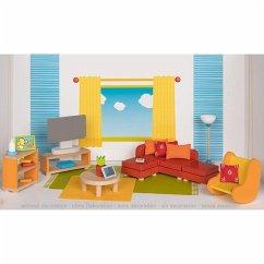Goki 51537 - Wohnzimmer, Puppenmöbel, Puppenhaus