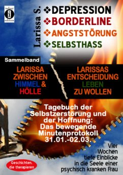 DEPRESSION - BORDERLINE - ANGSTSTÖRUNG - SELBSTHASSSammelband: Larissa zwischen Himmel und Hölle & Larissas Entscheidung leben zu wollen -Tagebuch der Selbstzerstörung - S., Larissa