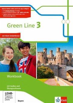 Green Line 3. Workbook mit Audio-CD und Übungssoftware 7. Klasse. Ausgabe Bayern