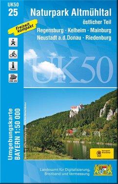 UK50-25 Naturpark Altmühltal, östlicher Teil - Landesamt für Digitalisierung, Breitband und Vermessung, Bayern,