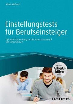 Einstellungstests für Berufseinsteiger - inkl. Arbeitshilfen online (eBook, PDF) - Weinem, Alfons