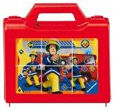 Ravensburger 07437 - Feuerwehrmann Sam, der tapfere Feuerwehrmann, Würfelpuzzle, 6 Teile im Koffer