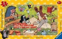 Ravensburger 06151 - Der kleine Maulwurf und seine Freunde, Rahmenpuzzle, 15 Teile, Puzzle