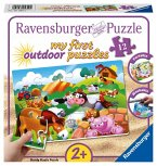 Ravensburger 05609 - my first outdoor puzzle, Liebe Bauernhoftiere, 12 Teile