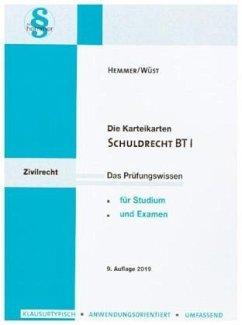 Schuldrecht BT I, Karteikarten - Hemmer, Karl-Edmund; Wüst, Achim