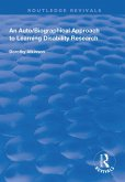 An Auto/Biographical Approach to Learning Disability Research (eBook, PDF)