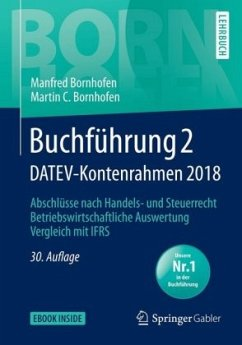 Buchführung 2 DATEV-Kontenrahmen 2018 - Bornhofen, Manfred;Bornhofen, Martin C.
