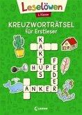 Leselöwen Kreuzworträtsel für Erstleser. 1. Klasse (Grün)