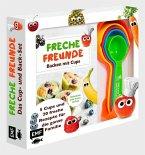 Freche Freunde: Das freche Cup- und Back-Set - Mit 5 Cups und 20 frechen Rezepten für die ganze Familie