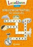 Leselöwen Kreuzworträtsel für Erstleser. 2. Klasse (Orange)