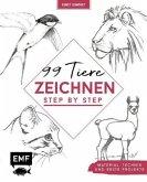 Kreativwerkstatt: 99 Tiere zeichnen Step by Step