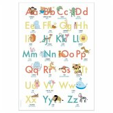 ABC Poster 70,7x100 cm   Alphabet spielerisch mit Tieren lernen   Das ABC-Lernposter mit Groß- und Kleinbuchstaben