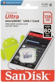 SanDisk Ultra microSDXC 128GB 80MB/s Cl. 10 SDSQUNS-128G-GN6MN